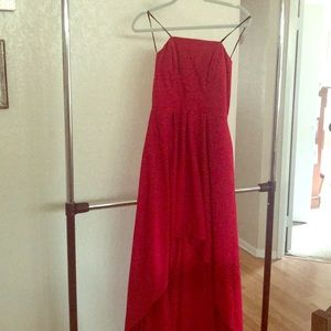 Jessica Simpson red elegant dress